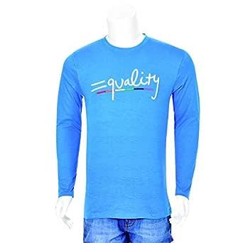 MENS FULL SLEEVE T-SHIRT R BLUE 223