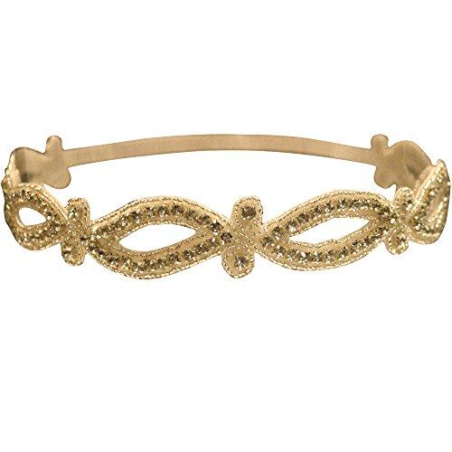 Embellished Headband Gold Marquis Cutouts One Adjustable