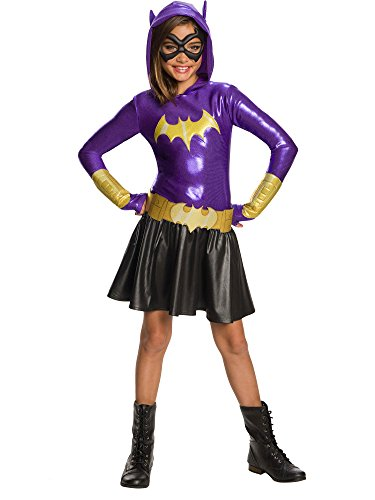 Rubie's DC Super Hero Girls Hoodie Dress Childrens Costume, Batgirl, Large -