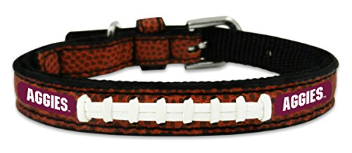 NCAA Texas A&M Aggies Classic Leather Football Collar, Toy