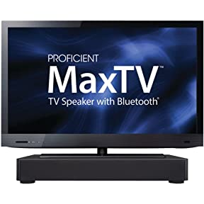 Proficient PAS62015 Audio Maxtv Plug and Play Amplified Tabletop Soundbar with Built-In Subwoofer (Black)