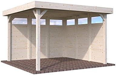 ITALFROM Cenador de Madera Pergola Enrejado tettoia Pabellones de Madera de jardín – 12,2 m²: Amazon.es: Hogar