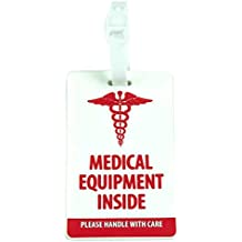 Shacke Medical Equipment Luggage Tag for Respiratory Devices (White/Vertical)