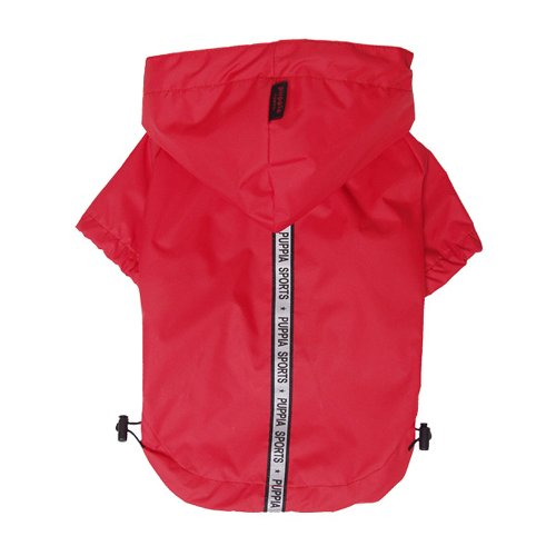 Puppia Authentic Base Jumper Raincoat, Extra-Large, Red by Puppia