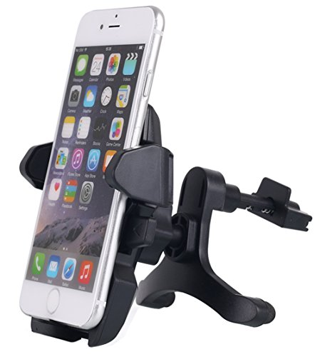 Car Air Vent Mount, AICase Universal Smartphone Car Mount Holder Cradle with a Quick Release Button for iPhone 6 6S 5S 5,iPod Touch and Other Devices 3.5