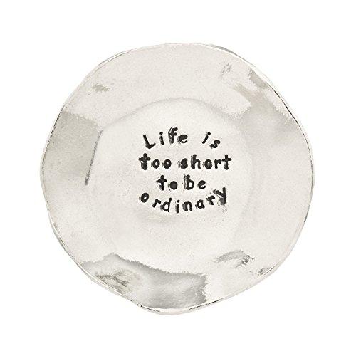 Life Is Too Short Pewter Trinket Dish (New Trinket)