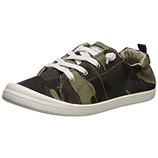 Sugar Women's Genius Comfortable Slip On Sneaker Shoe with No-Tie Laces and Cute Design 7 Washed Camo