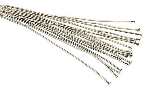 ((20) Antique Silver Plated Head Pins 3