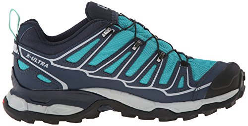 Peacock Ultra Blue X Shoe Deep Green GTX Hiking Salomon Lucite Blue Women's 2 qEw1q08