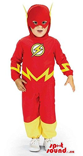 Children's Flash Gordon Costume (Flash Gordon Super Hero Toddler Size Costume With A Mask)