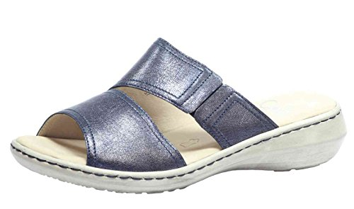 Caprice Damen Pantolette 92720028890, Deep Blue Meta, Schuhweite H Blau