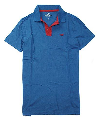 Hollister Men's Polo Golf Shirt HO7 (Medium, Azure 0052)