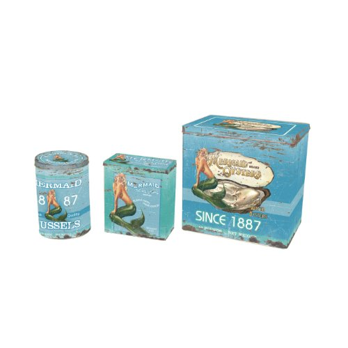Ohio Wholesale Water Collection Mermaid Seafood Tin, Set of 3