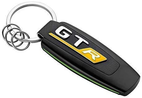 Mercedes Benz AMG Gt R Genuine Typo Keyring Stainless Steel Black//Green//Yellow Carbon Look