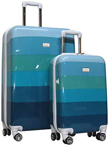 Nicole Miller Rainbow Hard-Sided 2-Piece Spinner Set: 28'' and 20'' (Sea Glass) by Nicole Miller