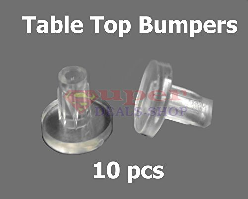 10 pc Table Top Bumpers Glass Table Top Bumpers Table Bumpers Vinyl for Patio Furniture Super-Deals-Shop