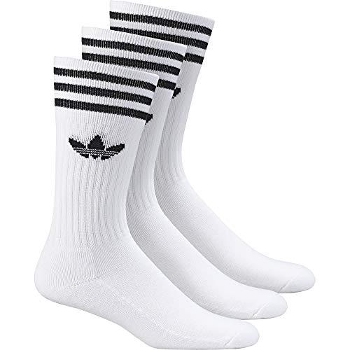 black De black Solid Crew white Adidas Chaussettes Blanc Homme 3 Lot White nCzPw7xZ