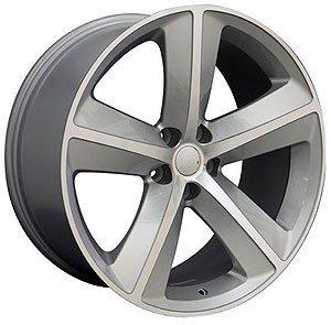 20x9 Wheel Fits Dodge, Chrysler - Challenger SRT Style Silver Rim, Hollander - Charger For Rims 20
