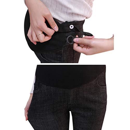 Pants Elastic Trousers Adjustable Pregnant Jeans Soft 4 Black Women Denims Maternity Style Hzjundasi z5xTqIwRq