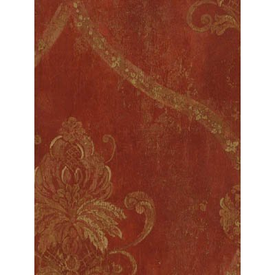 CS27328 - Classic Silks 3 Damask Red Beige Galerie Wallpaper