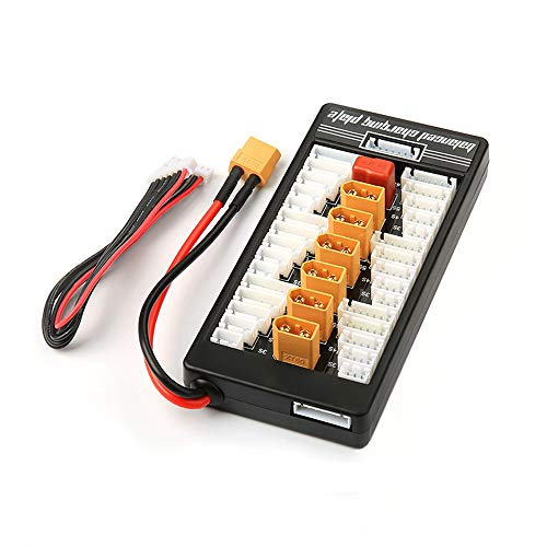 (XT60 Lipo Battery Charger 2-6S Parallel Balanced Charging Board Charging Plate for Imax B6 Lithium Batteries Charger RC Parts)