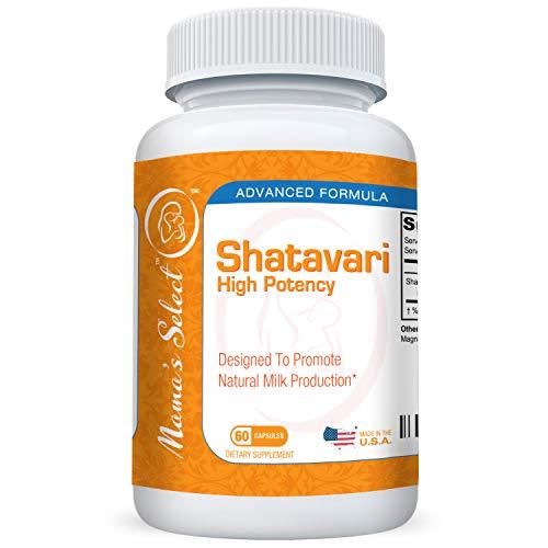 Shatavari - Natural Breast Milk Production & Lactation Supplement - Balances Female Hormonal System for Nursing & Breastfeeding, 60 Vegan Capsules, Organic, Safe and Non-GMO - Mama