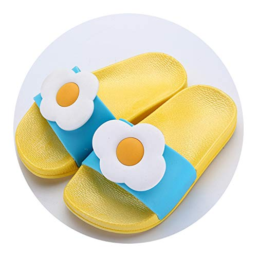 Slippers Toddler Water Children Flip Flops Barefoot Child Fruit Shoes,Yellow - Booties Baby Felted