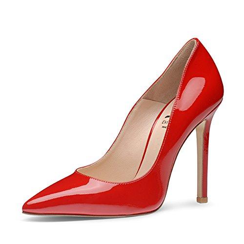 Evita Shoes - Zapatos de vestir de Piel para mujer Rojo - rojo