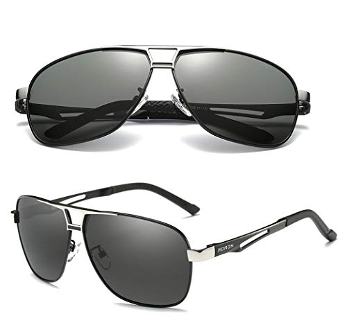 Mens Polarized Driving Sunglasses for Men-AORON Outdoor Sports Sunglasses with Case, 100% UV Protection(Black)