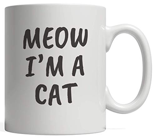 Meow Cat Halloween Costume Mug - Funny Gift Idea For Cute Kitty Cats Lover And Cool Pet Owner Who Loves Pets And Kitties Owners! Great For Pussycat Lovers Who Love Patting Furry Animals Meowing