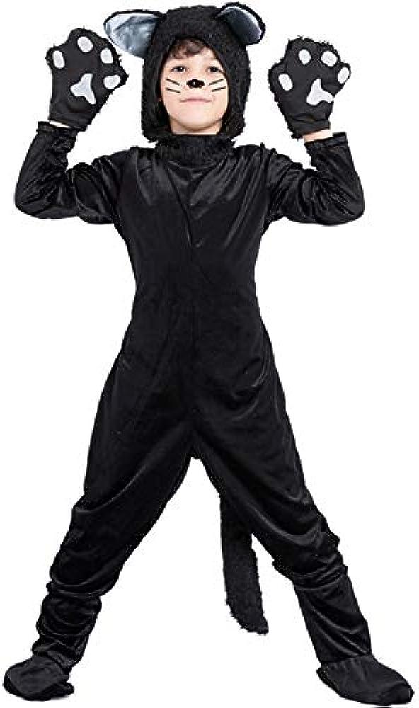 MIAO Disfraz de gato negro/papel negro para niños/disfraz de niña ...