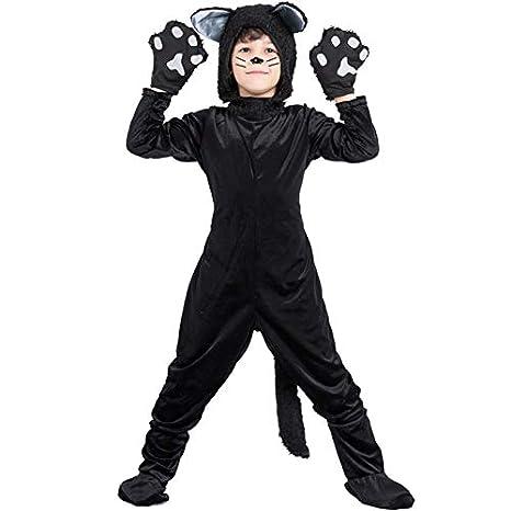 HFZY Disfraz de Gato Negro/Papel Negro para niños/Disfraz de ...
