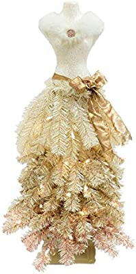 premium 3 dress form holiday christmas tree mini mannequin rose gold ombre