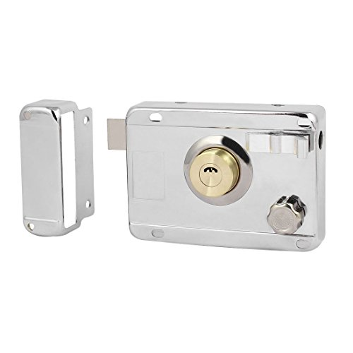 uxcell Home Door Gate Safety Vertical Keyway Cylinder Deadbolt Rim Lock Set ()