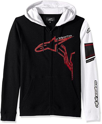 Alpinestars Mens Full Zip Hooded Sweatshirt Modern Fit 280 GSM Motorsports Fleece