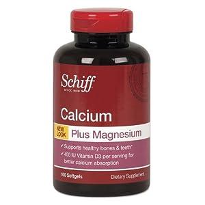 Schiff Calcium, Magnesium with Vitamin D3 Softgel, 100 Count by Schiff