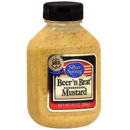 Silver Springs Mustard, Beer 'n Brat, 9.5-Ounce Squeeze Bottles (Pack of 45)