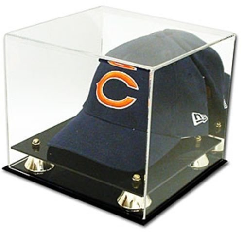 Hat Display Cap Case (Collectible Deluxe UV Acrylic Cap Baseball Hat Display Case - With Mirror)