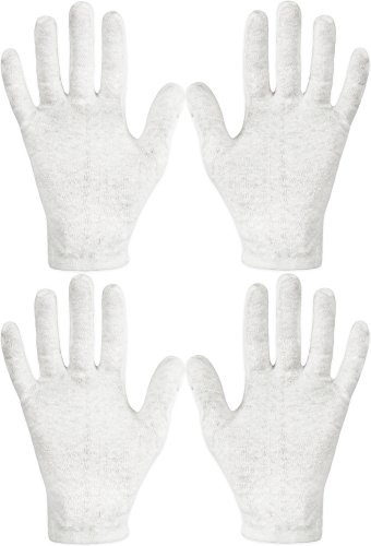 Hands Moisturizing (Eurow Cotton Cosmetic Moisturizing Therapeutic Gloves for Dry Hands and Beauty - White 2 Pack)