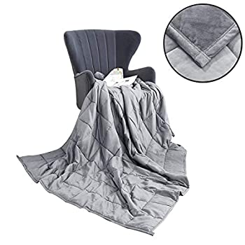 Image of Dream High Weighted Blanket, Premium Heavy Blanket with Glass Beads for Comfort Deep Sleep (Grey, 48x72 12LB) Dream High B083SBDWLL Weighted Blankets