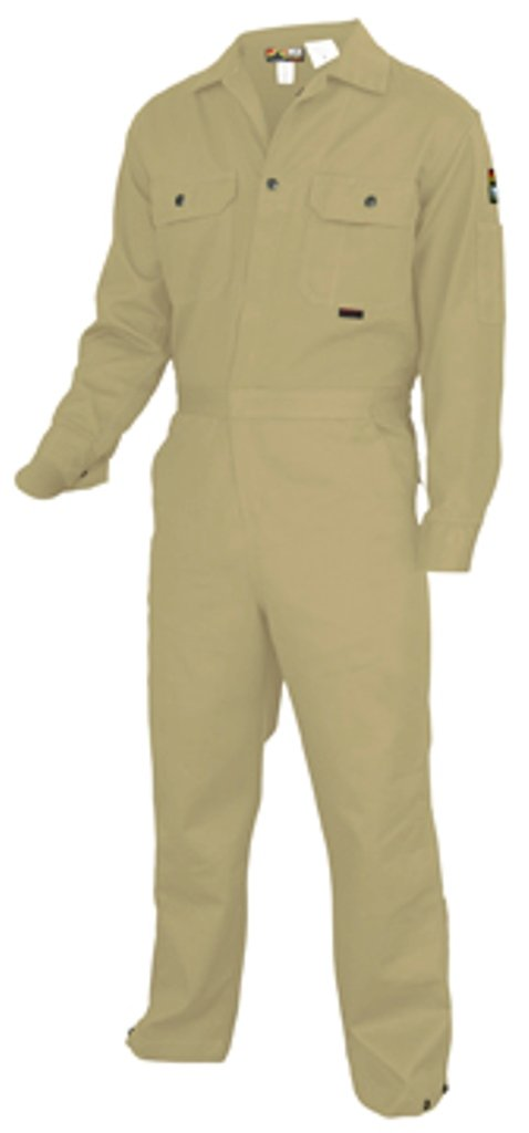 MCR Safety DC1T60 Deluxe Contractor Flame Resistant (FR) Coveralls, Tan, Size 60, Chest 60-Inch, Waist 60-Inch, Inseam 30-Inch