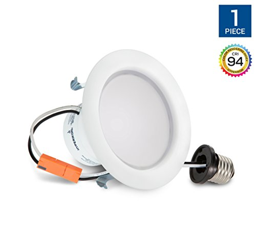 Hyperikon 4 Inch LED Downlight, Dimmable, 9W (65W Equivalent), Retrofit LED Recessed Fixture, 4000K (Daylight Glow), CRI94, ENERGY STAR Ceiling Light - Great for Bathroom, Kitchen, Office