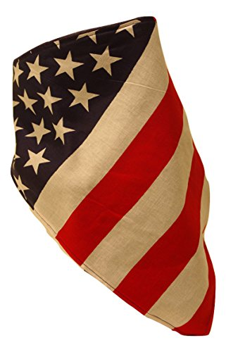 Fierce Face Protection Fleece Lined Bandana US Flag made in New England
