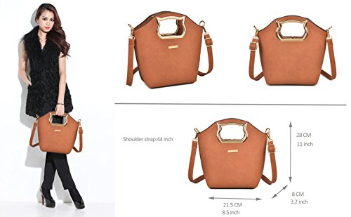 Gift Tote PCS Women Set Set Shoulder Bag Pink Bag for 3 Handbags and Purses Women fUv7AA