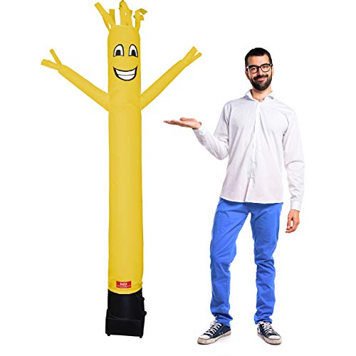 7 Foot Inflatable Dancing Wacky Air Tube Man - Sky Guy Comes Complete with Puppet Dancer Balloon and Blower Included (All Yellow Body)