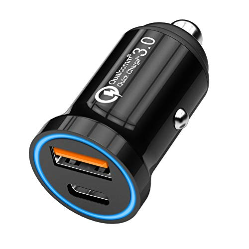 [Updated Version] USB C Car Charger, CHGeek PD Power Delivery 2.0 with 1 Quick Charge 3.0 Mini Car Charger Adapter for iPhone X/8/Plus, Samsung Galaxy S9/S8+, LG G6/V30 and More