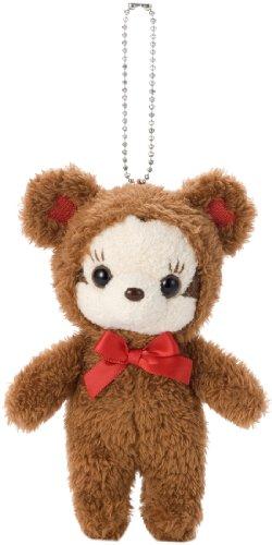 Disney Minnie Couture Plush Doll Ball Chain (Brown)