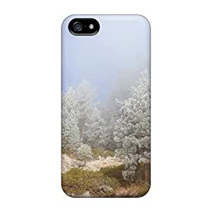 New AsF20826rbsH Magical Silver Forest On A Rocky Foggy Hill Covers Cases For Iphone 5/5s