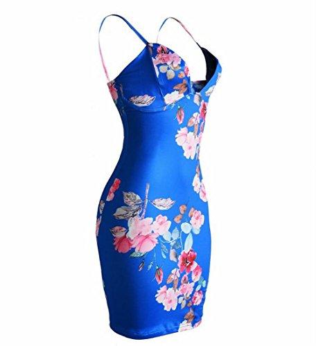 Coolred Da Vestito Floreale Donne Classico Prendisole Partito Sundress Cinghia Blu Sexy Adqx1wfP