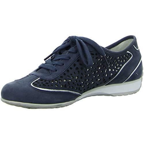 358 Mujer Para Cordones blau 26 46 Dunkel Zapatos De Azul Gabor 50Ha7qwn